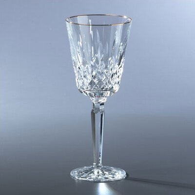 Waterford Lismore Tall Gold Red Wine Glass