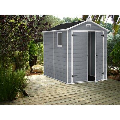 keter manor 6 ft w x 8 ft d plastic shed. Black Bedroom Furniture Sets. Home Design Ideas