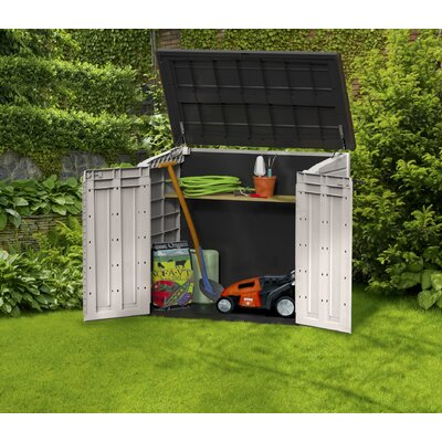 Keter Woodland  Store It Out Midi 4 Ft. W x 2 Ft. D Resin Storage Shed