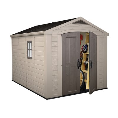 Keter Factor 8 Ft. W x 11 Ft. D Resin Storage Shed