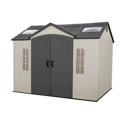 Lifetime Side Entry 10 Ft. W x 8 Ft. D Plastic Storage Shed