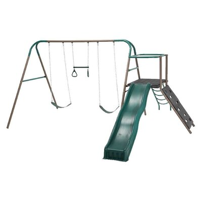 6 Piece Climb and Slide Play Swing Set Product Photo