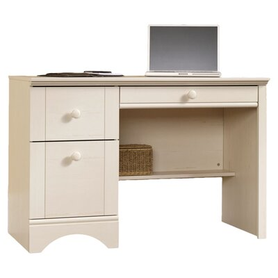 Sauder Harbor View 3 Drawer Computer Desk with Keyboard Tray