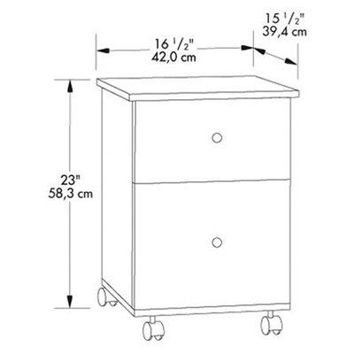 Sauder 2 Drawer Mobile File Cabinet