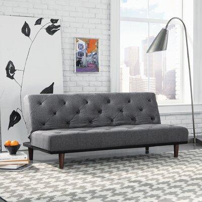Premier Crash Convertible Sofa in Gray by Sauder