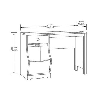 "Sauder Pogo 42.639"" W  Writing Desk"
