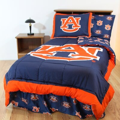 NCAA Auburn Bed in a Bag with Team Colored Sheets Collection by College Covers