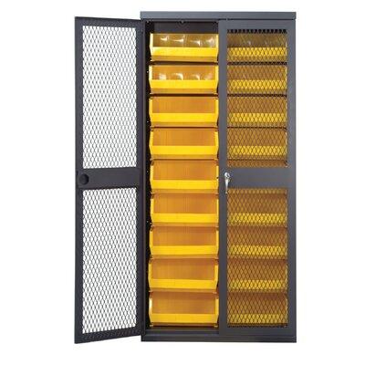 "Quantum Storage 78"" H x 36"" W x 18"" D Mesh Safe-View Storage Cabinet"