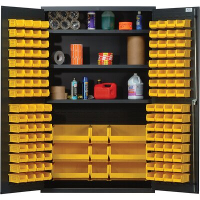 "Quantum Storage 78"" H x 48"" W x 24"" D Welded Storage Cabinet"