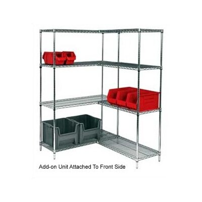 Quantum Storage Small Q-Stor Chrome Wire Shelving Add-On Unit