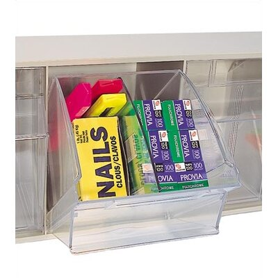 Quantum Storage Divider for 4 Compartment Clear Tip Out Bin