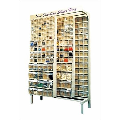 Quantum Storage Free Standing Slider Storage System with Tip Out Bins