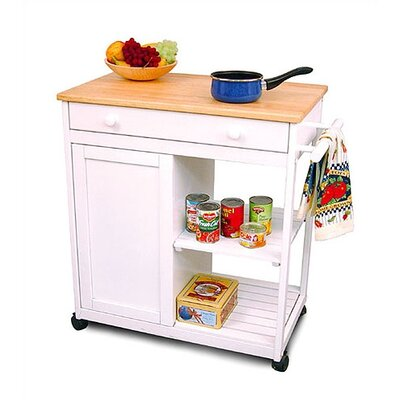 Catskill Craftsmen, Inc. Cottage Kitchen Cart with Wooden Top