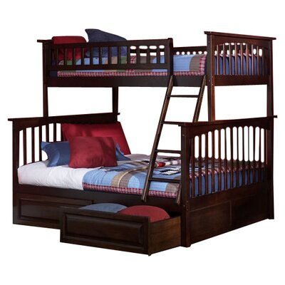 Atlantic Furniture Columbia Bunk Bed with Storage