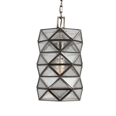 Harambee 1 Light Mini Pendant with Seeded Water Glass by Sea Gull Lighting