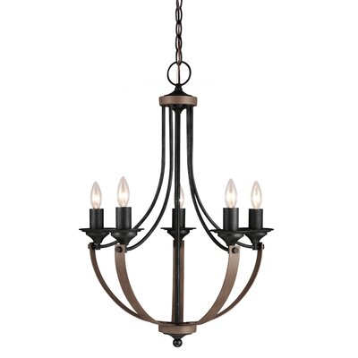 Corbeille 5 Light Candle Chandelier Product Photo