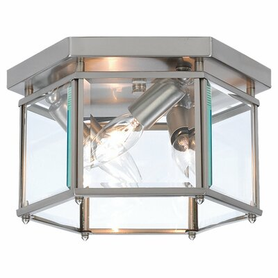 "Bretton 6"" 3 Light Flush Mount Product Photo"