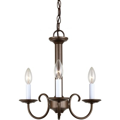Holman 3 Light Candelabra Chandelier by Sea Gull Lighting