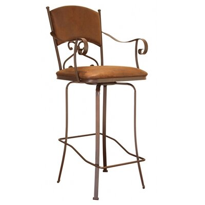 Cantina 30 swivel bar stool with cushion wayfair Artisan home furniture bar stools
