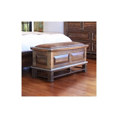 Artisan Home Furniture Golden Antique Wood Storage Bedroom Bench Reviews Wayfair