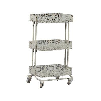 Pierced Metal 3 Tier Shelf by Linon
