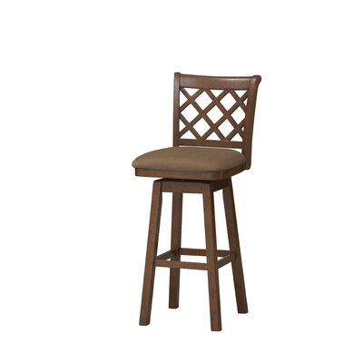 "Linon 30"" Swivel Bar Stool with Cushion"
