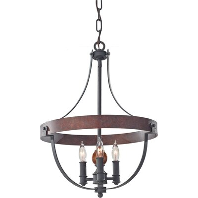 Alston 3 Light Candle Chandelier by Feiss