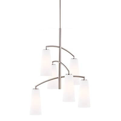 Coddington 6 Light Candle Chandelier by Feiss