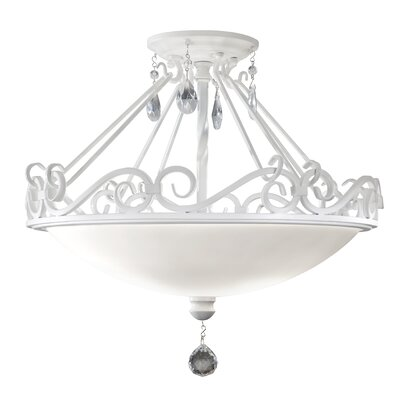 Feiss Chateau Blanc 2 Light Semi-Flush Mount