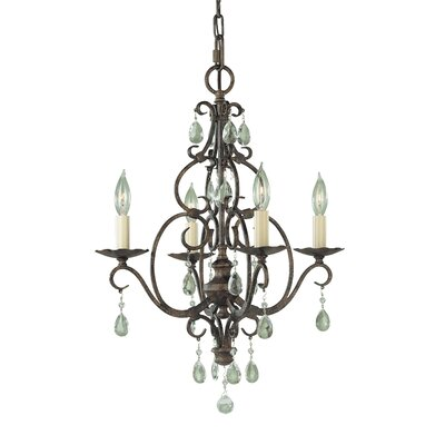 Chateau 4 Light Mini Chandelier Product Photo
