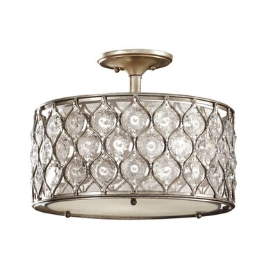 Lucia 3 Light Semi Flush Mount Product Photo