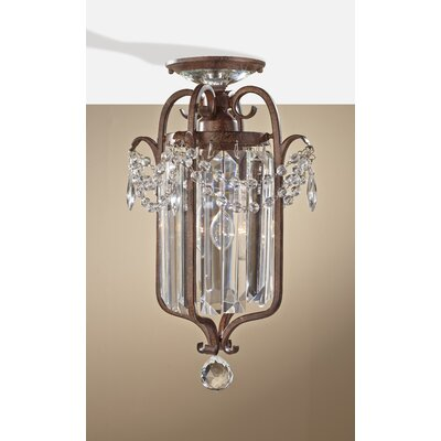"Gianna Scuro 1 Light 12.8"" Mini Duo Chandelier Product Photo"