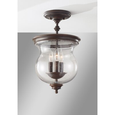 Pickering Lane 3 Light Semi Flush Mount Product Photo
