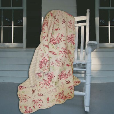 Greenland Home Fashions Coral Quilted Cotton Throw