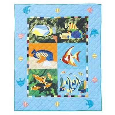 Patch Magic Ocean Schools Cotton Throw Quilt