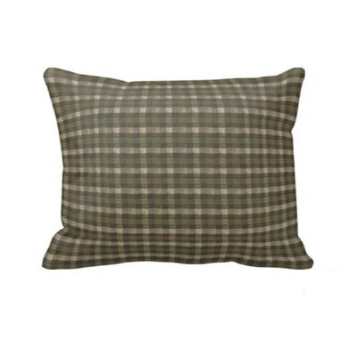 Green Forest - Checks with Ecru Pillow Sham by Patch Magic