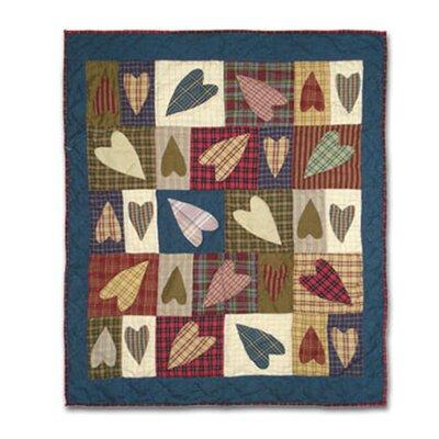 Primitive Hearts Cotton Crib Quilt by Patch Magic