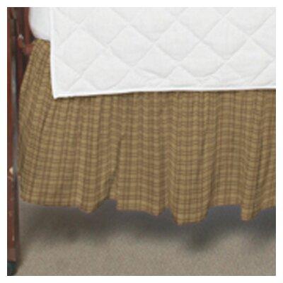 Patch Magic Brown Plaid Fabric Crib Dust Ruffle