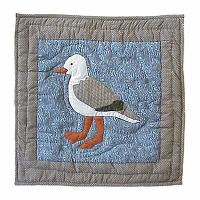 Patch Magic Beach Critters Seagull Cotton Throw Pillow
