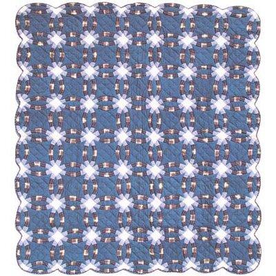 Blue Double Wedding Ring Quilt by Patch Magic