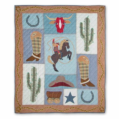 Patch Magic Cowgirl Cotton Throw Quilt