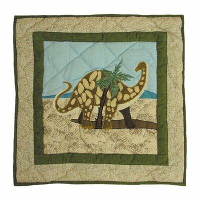 Patch Magic Dinosaur Cotton Throw Pillow