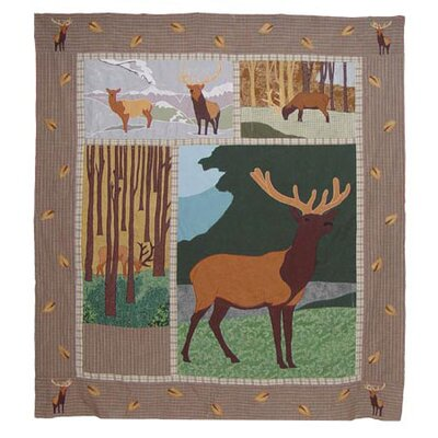 Patch Magic Elk Cotton Throw Quilt