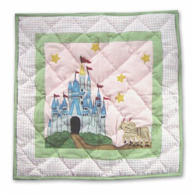 Fairy Tale Princess Cotton Throw Pillow by Patch Magic