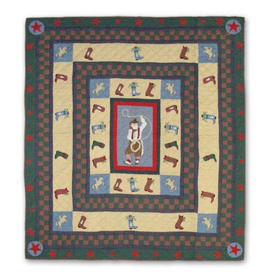 Western Santa Full / Queen Quilt by Patch Magic