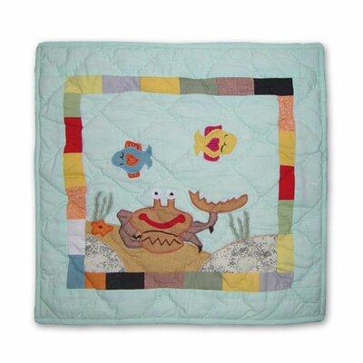 Kids Aquarium Cotton Throw Pillow by Patch Magic