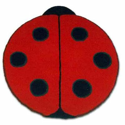 Patch Magic Ladybug Red/Black Area Rug