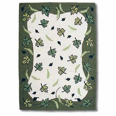 Patch Magic Spring Leaves Ivory/Green Area Rug