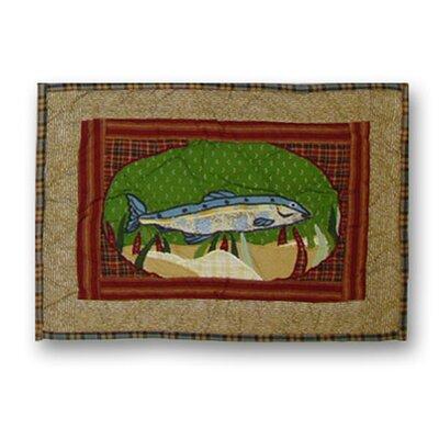 Patch Magic Gone Fishing Cotton Boudoir/Breakfast Pillow