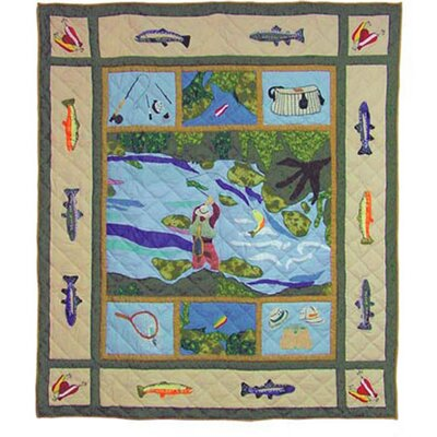Patch Magic Fly Fishing Cotton Throw
